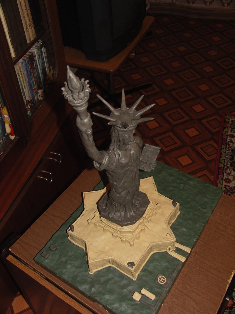 Сделать статую свободы своими руками